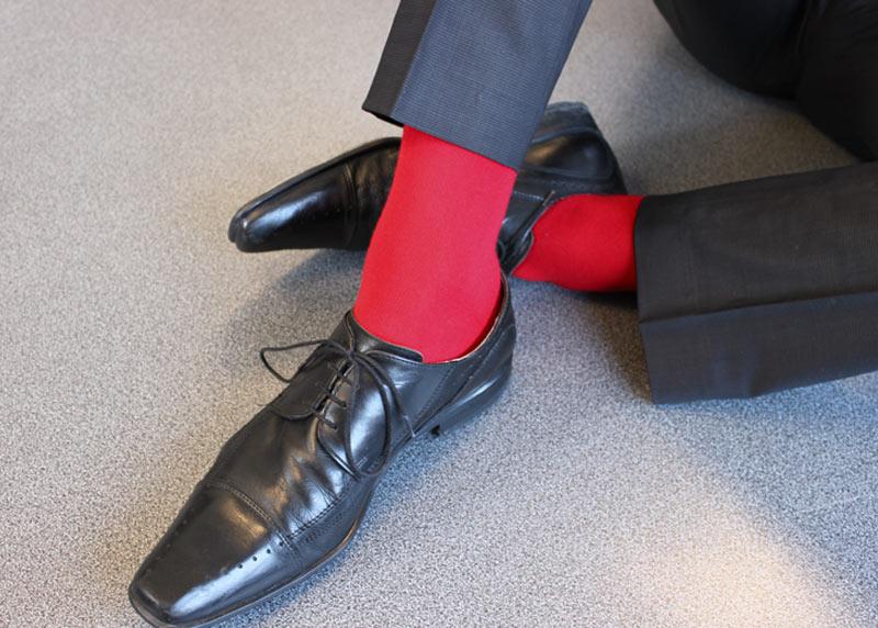 chaussettes rouge passion. Black Bedroom Furniture Sets. Home Design Ideas
