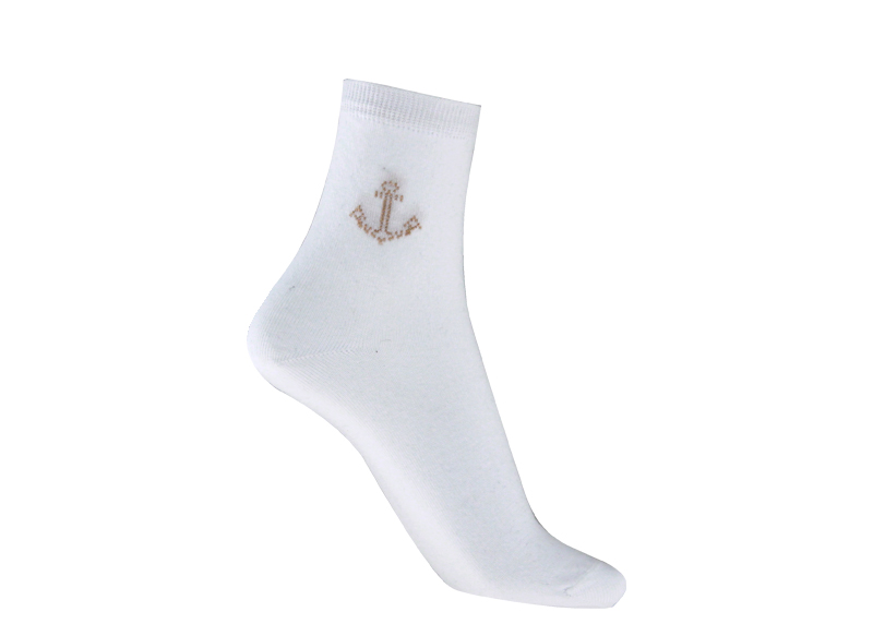 chaussettes blanches motif ancre marine chaussettes fantaisies pour femme. Black Bedroom Furniture Sets. Home Design Ideas